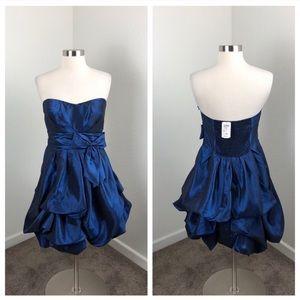 NEW Windsor royal blue strapless balloon dress